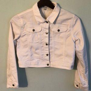 DKNY Girls XL White Denim Jacket